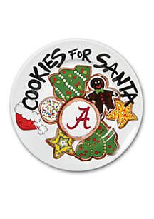 Alabama Crimson Tide Cookies for Santa Plate