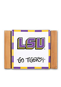 LSU 4-Piece Coaster Set