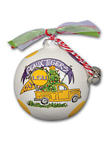 LSU Tigers Pickup Truck Ornament