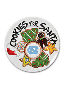 North Carolina Tar Heels Cookies for Santa Plate