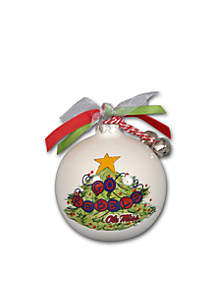 3.5-in. Ole Miss Christmas Tree Ornament