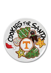 Tennessee Volunteers Cookies for Santa Plate