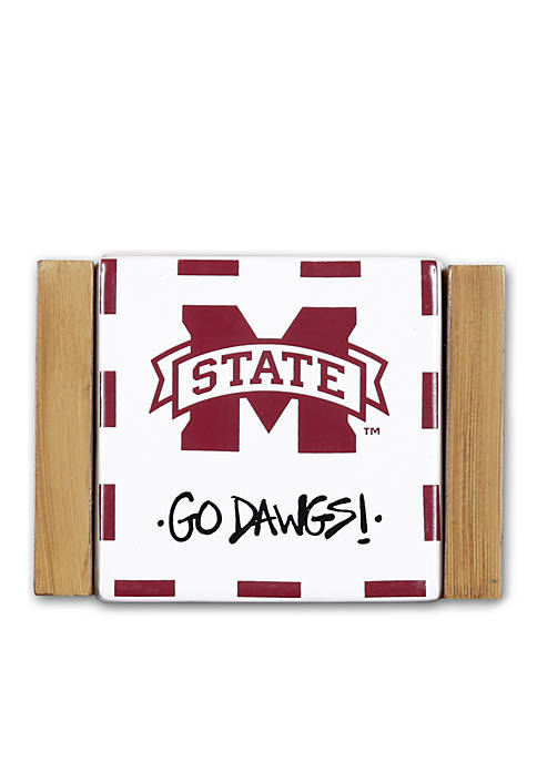 Magnolia Lane Mississippi State 4-Piece Coaster Set