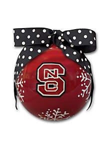 4-in. North Carolina State University Snowflake Ball Ornament