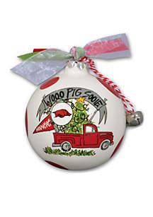 Arkansas Razorbacks Pick Up Truck Ornament