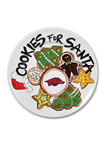Arkansas Razorbacks Cookies for Santa Plate