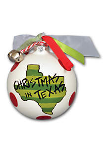 3.5-in. 'Christmas in Texas' Ornament