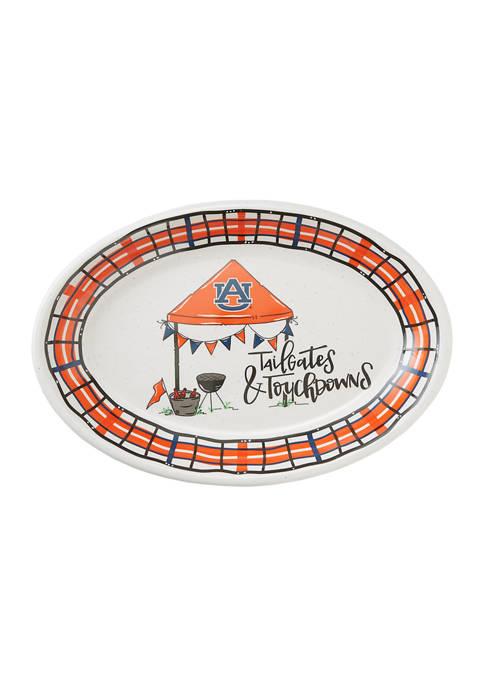NCAA Auburn Tigers Melamine Oval Tailgate Platter