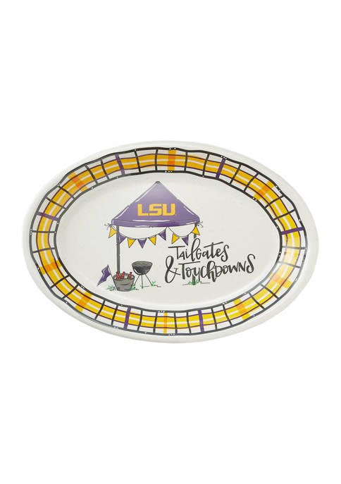 NCAA LSU Tigers Tailgate Oval Platter