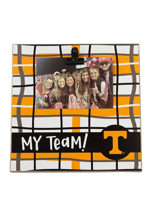 NCAA Tennessee Volunteers My Team Wood Frame