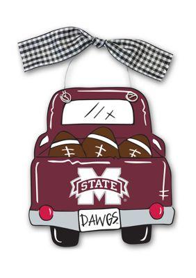 Magnolia Lane Ncaa Mississippi State Bulldogs Truck Wood Ornament