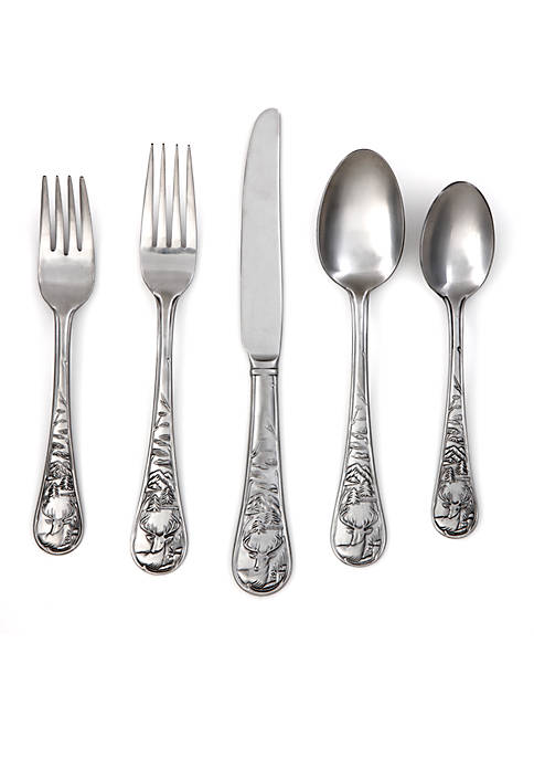 Cambridge Silversmiths Deer Satin 20-Piece Flatware Set