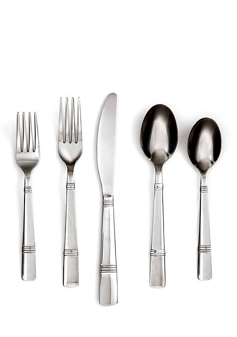 Cambridge Silversmiths Braylen Mirror 62-Piece Flatware Set with