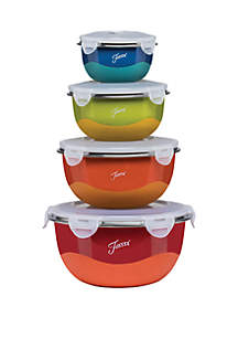 Fiesta® 8 Piece Microwave Safe Covered Mixing Bowl Set