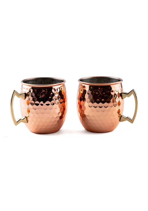 Cambridge Silversmiths 2 Pack of Hammered Copper Moscow
