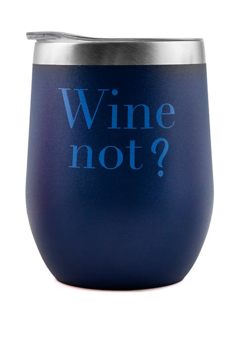 Double Wall Wine Tumbler with Lid