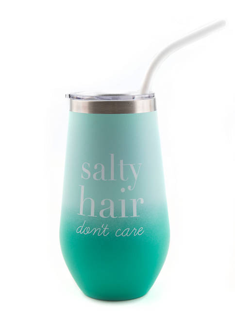 "Cambridge Silversmiths 16 Ounce Aqua ""Salty Hair Dont"