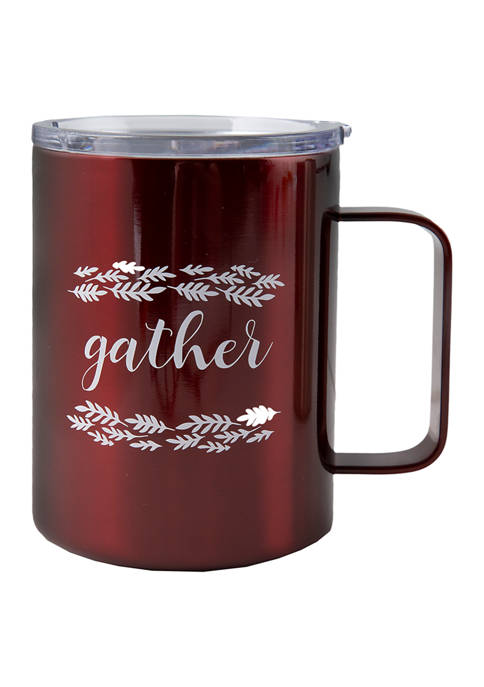"""16 Ounce Insulated Stainless Steel """"Gather"""" Coffee Mug"""