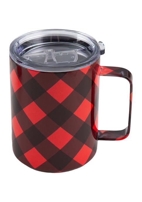 Cambridge Silversmiths 16Oz Insulated Buffalo Check Coffee Mug