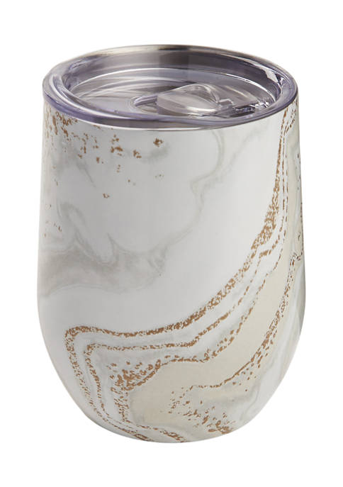 Cambridge Silversmiths 12 Ounce White Geode Insulated Wine