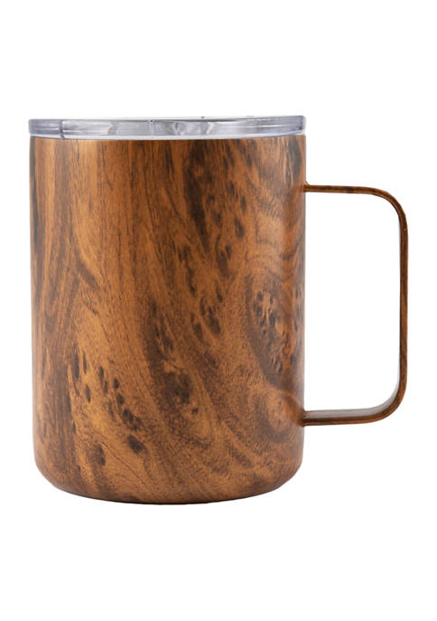 Cambridge Silversmiths 16 Ounce Wood Decal Insulated Coffee