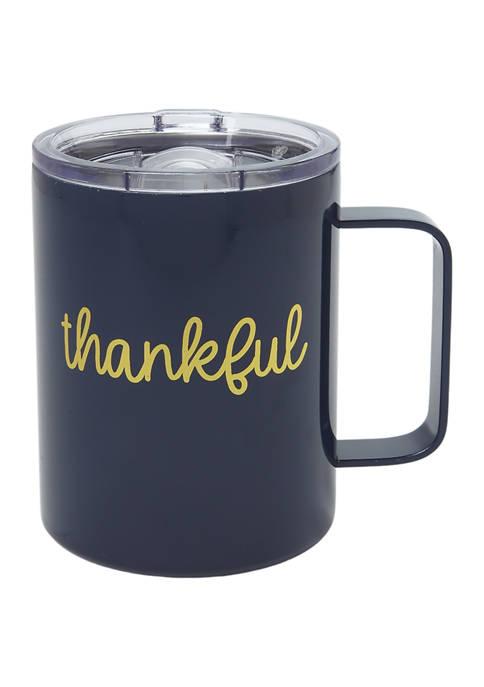 "Cambridge Silversmiths 16 Ounce Navy ""Thankful"""