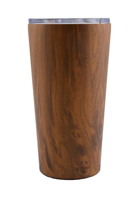 Cambridge Silversmiths 20 Ounce Wood Decal Insulated Highball
