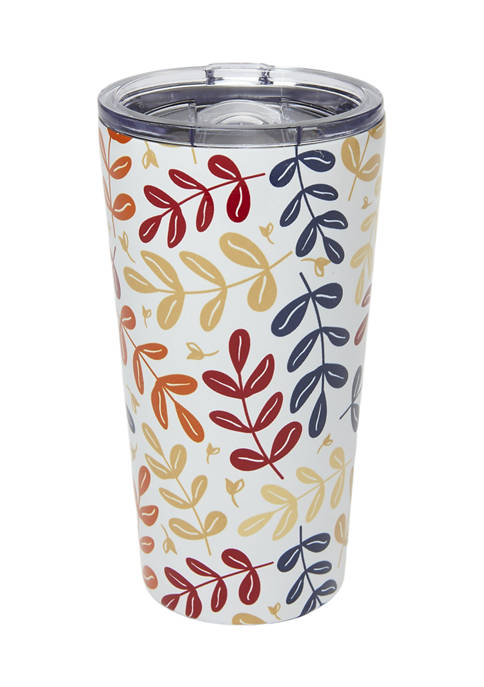 Cambridge Silversmiths 20 Ounce White Floral Insulated Highball