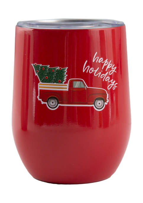 Cambridge Silversmiths 12 Ounce Red Truck Insulated Wine