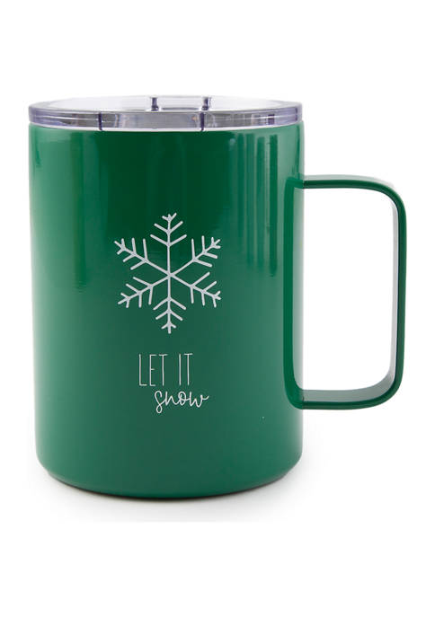 """Cambridge Silversmiths 16 Ounce Green """"Let It Snow"""""""
