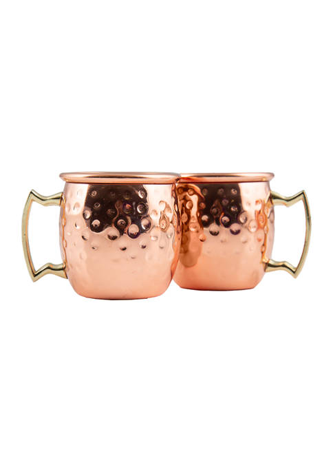 Cambridge Silversmiths 4 Pack of Hammered Copper Mini