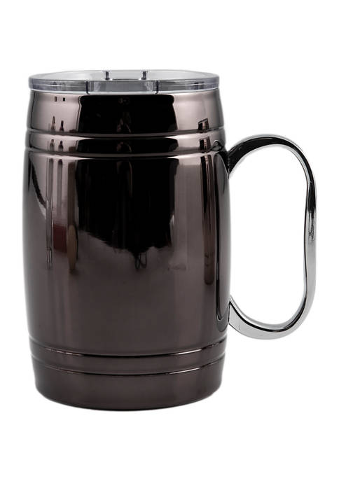 Cambridge Silversmiths 20 Ounce Insulated Black Beer Mug