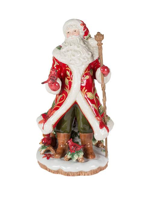 Fitz and Floyd Cardinal Christmas Santa Figurine