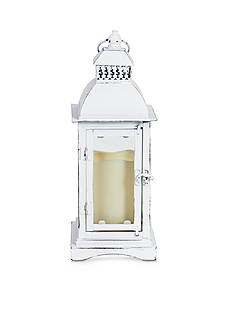 Elements 13-in. Metal LED Lantern