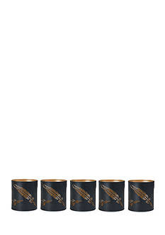 Elements 5-Piece Feather Luminary Votive Holder Set