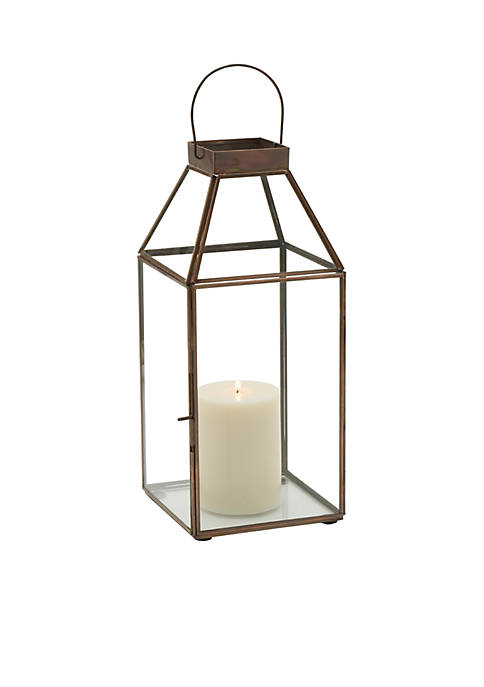 Elements Square Copper Lantern