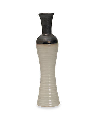 Front porch 17 3 in fade hourglass ceramic vase