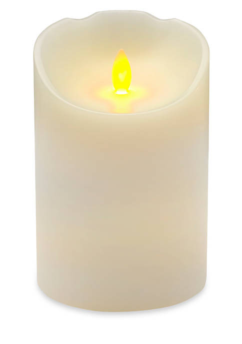 Reflections LED Candle with Realistic Flame Set White