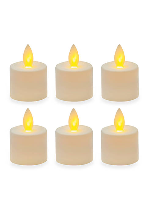 Mikasa Reflections LED Tealight with Realistic Flame Set,