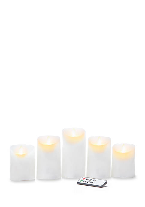 Mikasa Reflections LED Candle with Realistic Flame Set