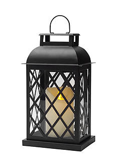 Front Porch LED Metal Lantern