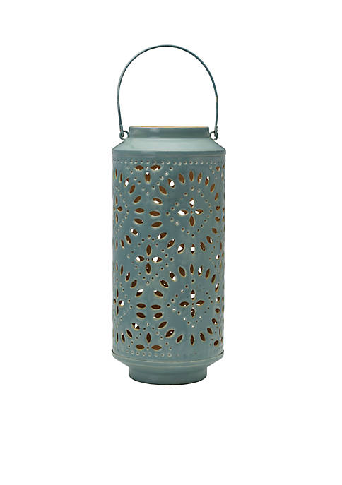 Modern. Southern. Home.™ Blue Tan Metal Lantern