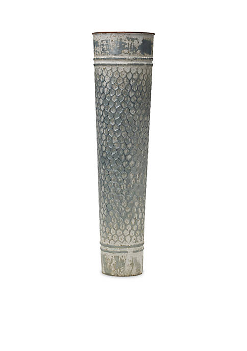 Modern. Southern. Home.™ Chickenwire Embossed Metal Vase