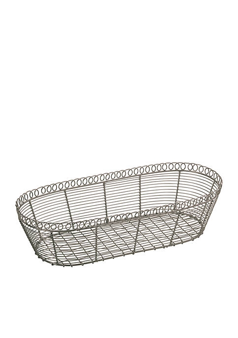 Elements Silver Wire Basket