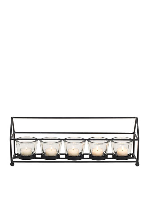 Elements 2 Tealight Metal Candle Holder