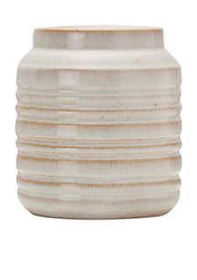 Ceramic Ribbed Pot