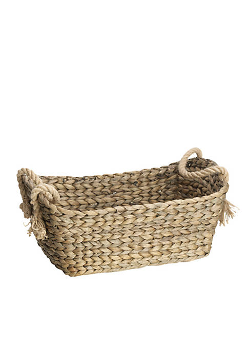 Elements Natural Rope Water Hyacinth Basket
