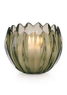 Glass Flower Tealight Holder