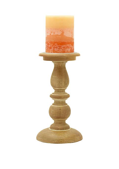 Natural Wood Candle Holder