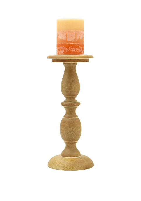Elements Natural Wood Candle Holder